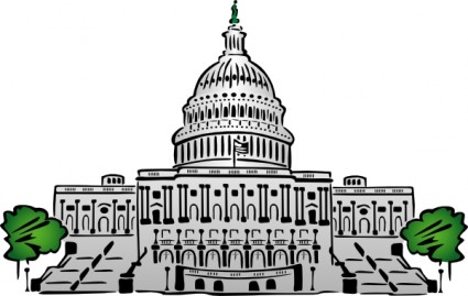Whitehouse Retro - csp16023361. Us Capitol Building Clipart .
