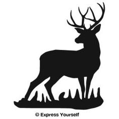 Whitetail Deer Silhouette Clip Art. Silh-Whitetail Deer Silhouette Clip Art. Silhouette, Mule deer and Deer .-13