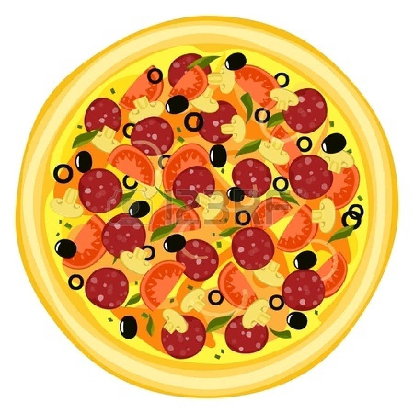 Whole pepperoni pizza clip art .-Whole pepperoni pizza clip art .-8