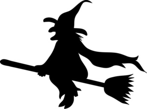 Wicked Witch Clipart Image Halloween Wic-Wicked Witch Clipart Image Halloween Wicked Witch On Her Broomstick-15