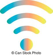 . ClipartLook.com colored wifi icon. vector illustration