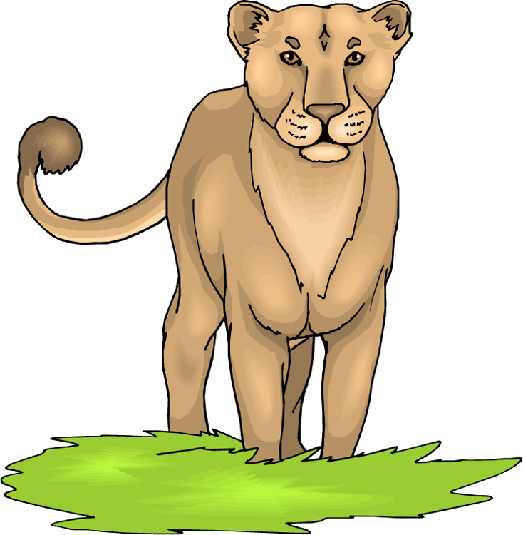 Wild Lioness Clipart - Lioness Clipart