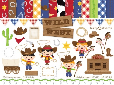 Wild West Clip Art And Digital Paper Pac-Wild West clip art and digital paper pack-5