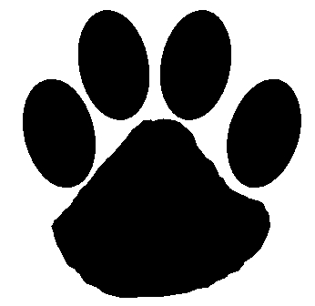 Wildcat Pawprint - Clipart library