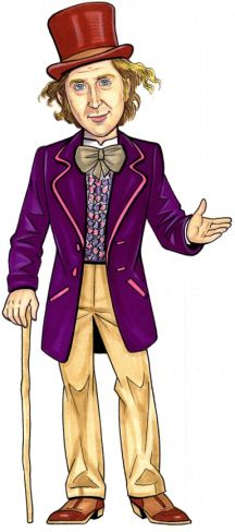 Willey Wonka Party Cutout