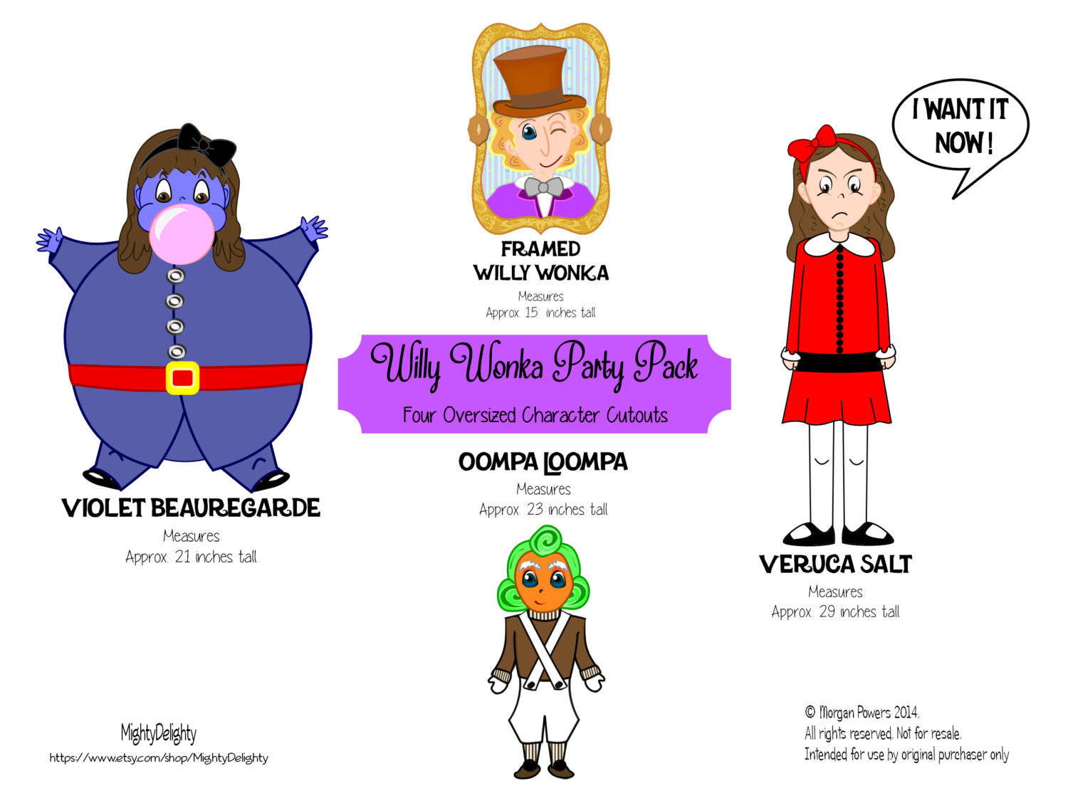 Willy Wonka and the Chocolate Factory Clip Art