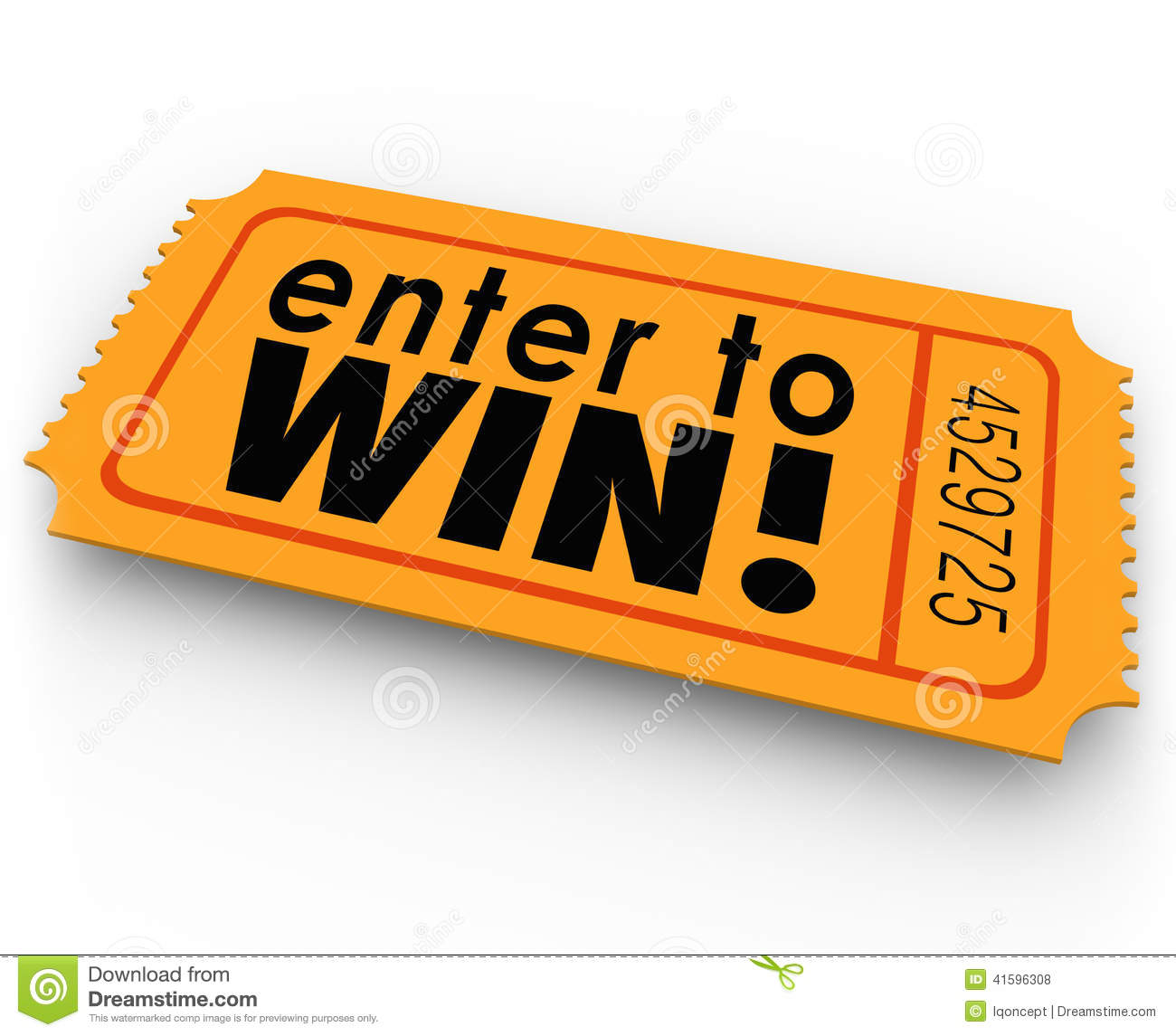 Win Words On An Orange Ticket For A Raff-Win Words On An Orange Ticket For A Raffle Or Jackpt Drawing Where You-10
