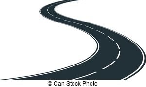 ... winding road - isolated winding road-... winding road - isolated winding road - clip art illustration-17