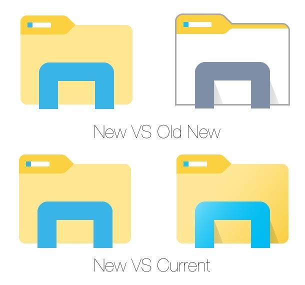 Windows 10 new File Explorer icon