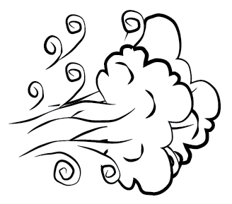 Windy Weather Clip Art