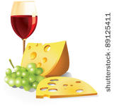 wine and cheese clipart black and white