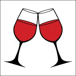 Wine and cheese clipart black