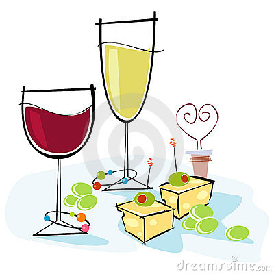 Wine And Cheese Clipart Black And White Clipart Panda Free Clipart