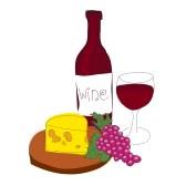 Wine and Cheese Clipart. wine and cheese clipart% .