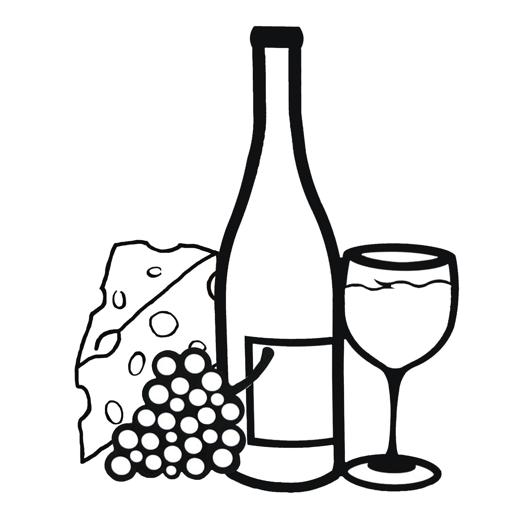 Wine And Cheese Clipart-Wine and Cheese Clipart-12