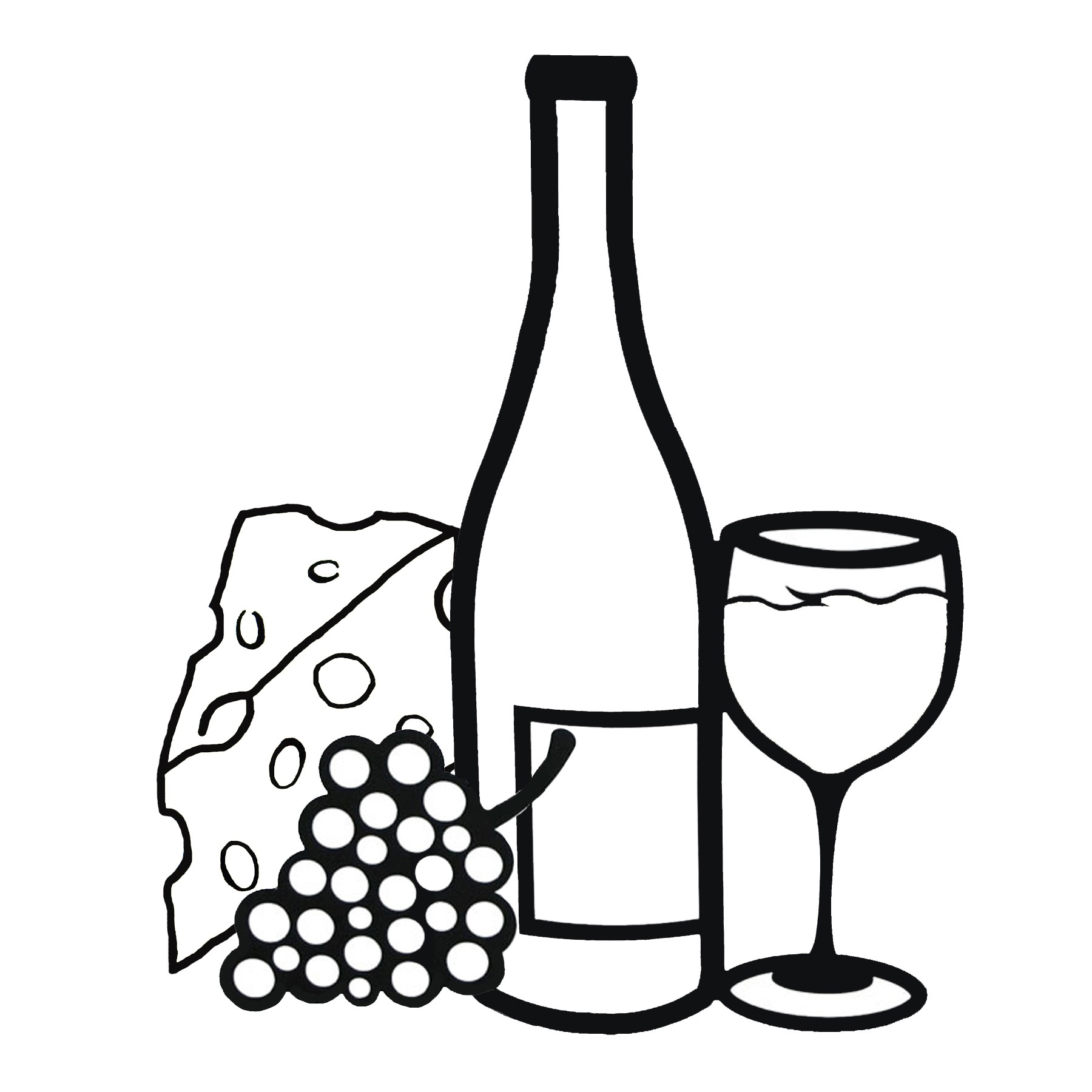 Wine Bottle, Glass , Grapes And Cheese --Wine Bottle, Glass , Grapes and Cheese - Quest Aerospace. Download Wine Clip Art ...-16