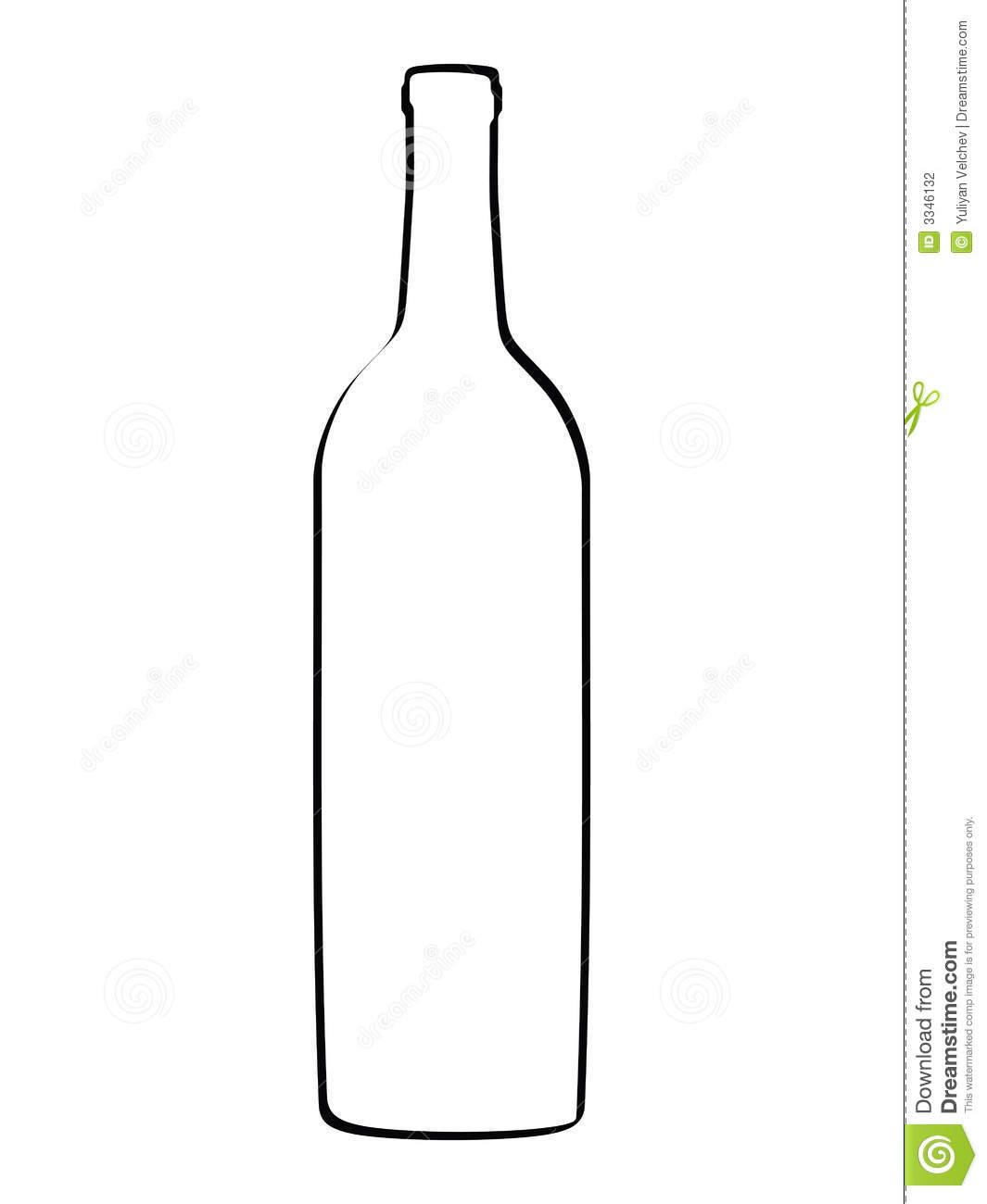 Wine Bottle Outline Clipart-Wine Bottle Outline Clipart-12