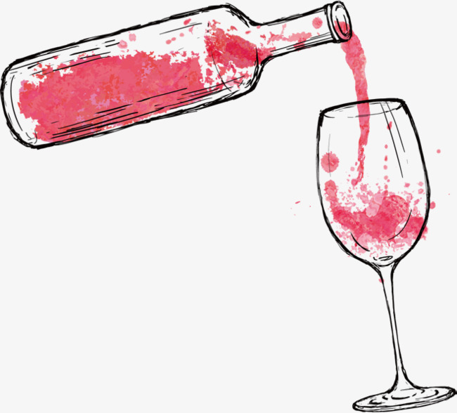 cartoon red wine, Cartoon Cli - Wine Clipart