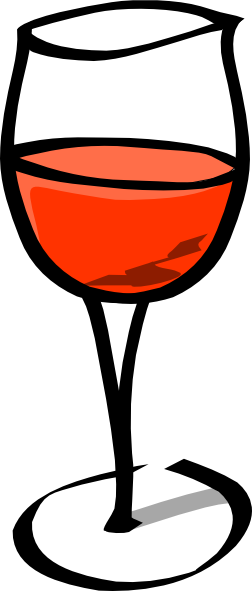 wine glasses clipart free