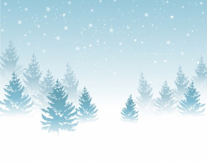 Winter background, Vector .
