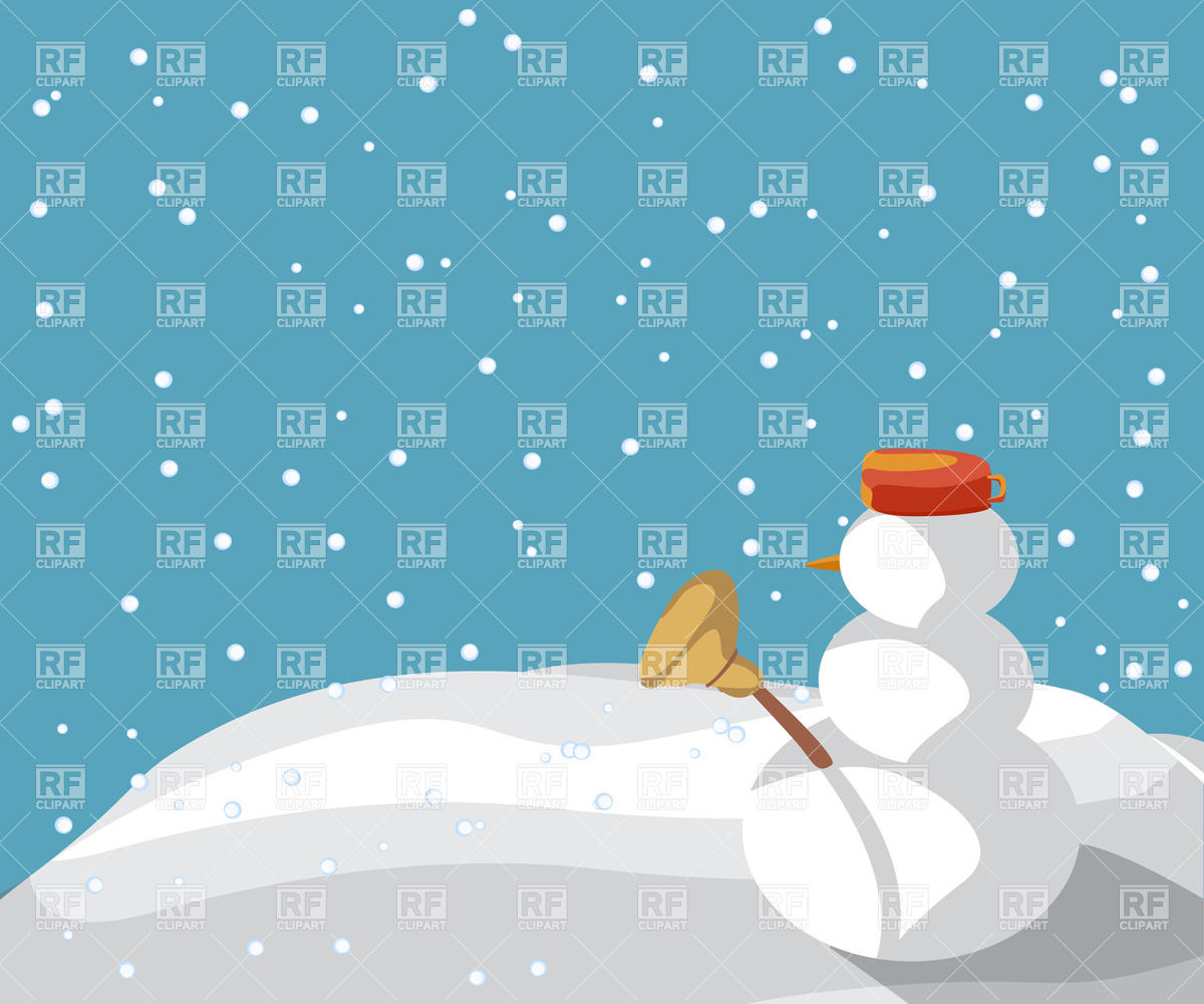 Winter Background With Snowman Download Royalty Free Vector Clipart