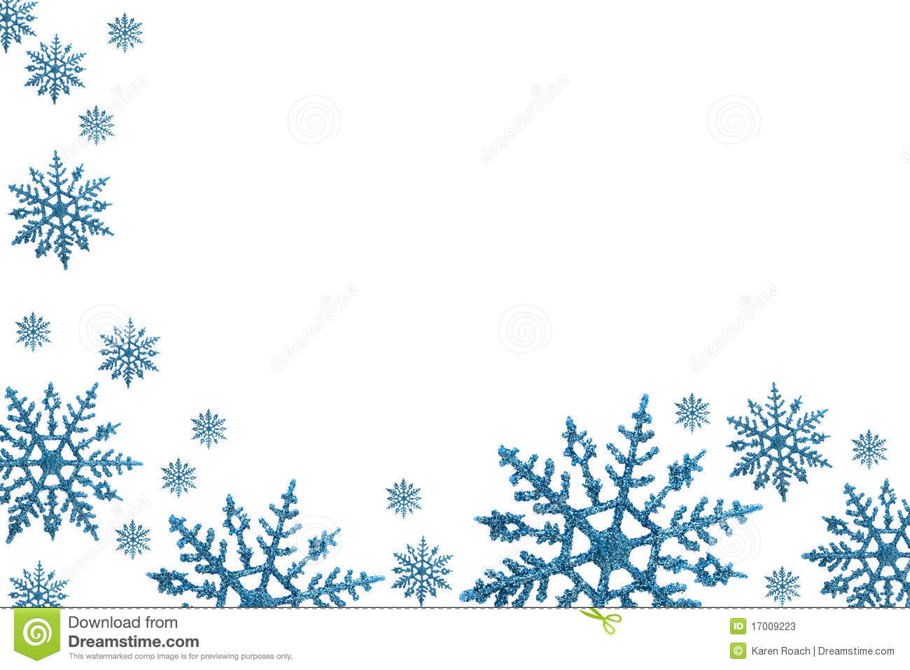 Winter Border Clipart Winter  - Free Snowflake Border Clipart