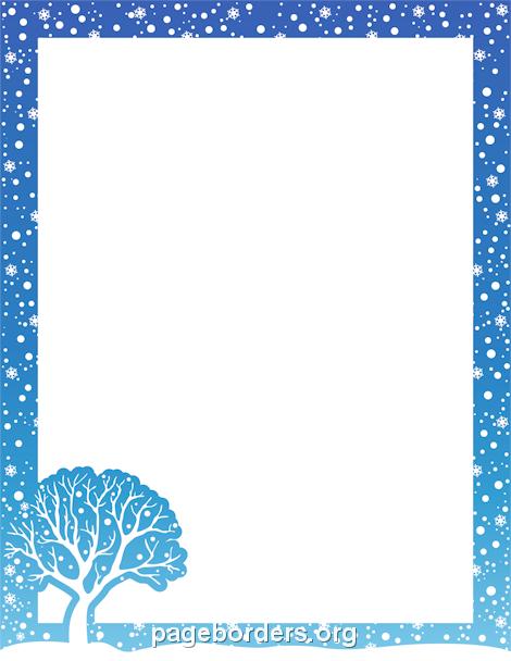 winter clip art borders winter .