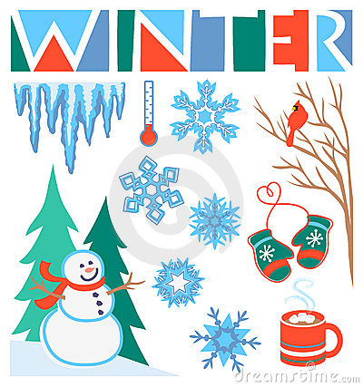 winter clipart free winter clip art set stock photo image 16936930 online