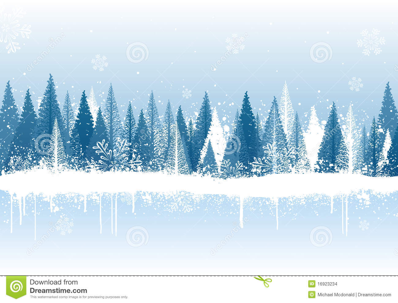 Winter Forest Background Stock Images Image 16923234