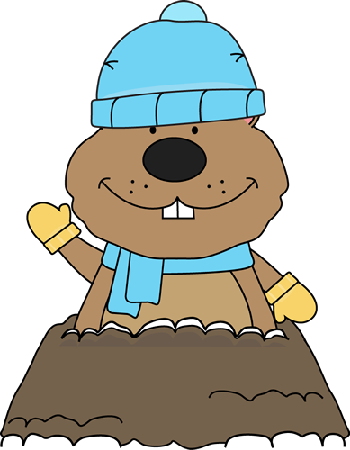 Winter Groundhog - Groundhog Day Clip Art