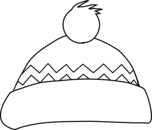 Winter Hat Outline Clip Art At Clker Com Vector Clip Art Online