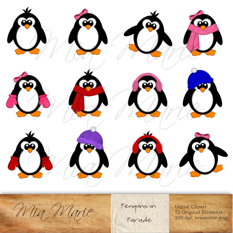 Winter Penguin Clipart Cold Weather Polar Regions Winter Penguin