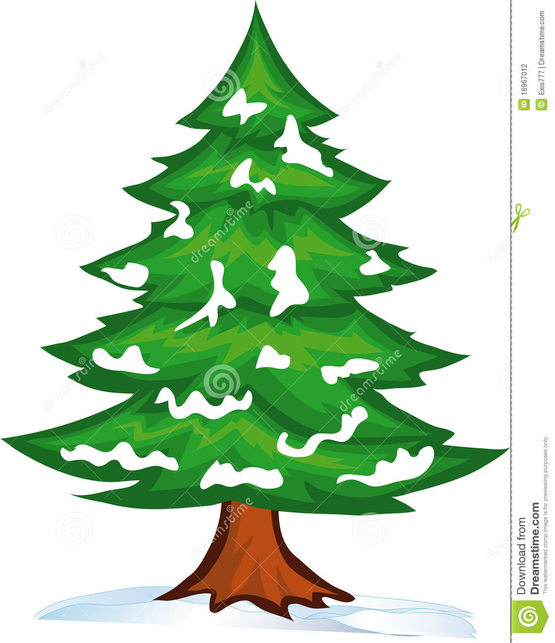 Winter Pine Trees Clipart .