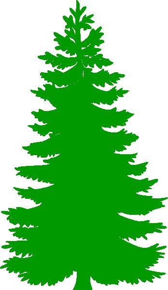 Winter Pine Trees Clipart Pin - Clip Art Pine Tree