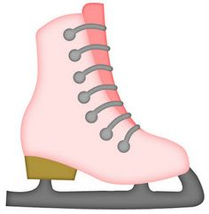 WINTER PINK ICE SKATE CLIP ART