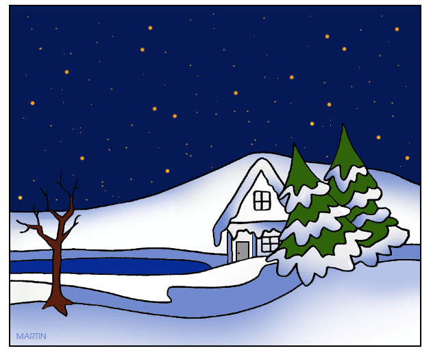 Winter Scene Clip Art - Blogsbeta
