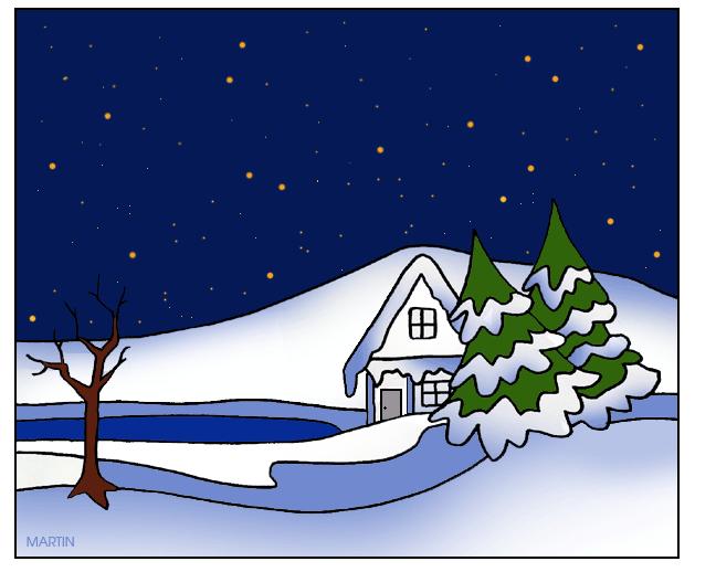 Winter Scene Clip Art - Blogsbeta