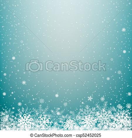 blue light winter snow background - csp52452025