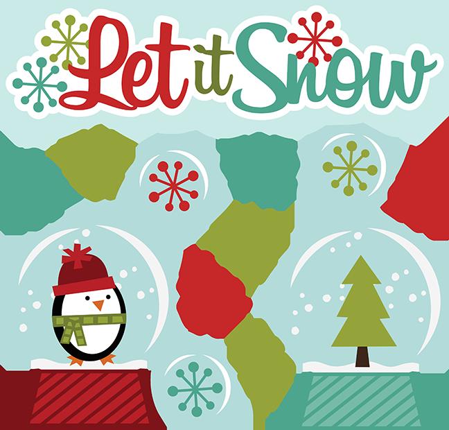 Let It Snow SVG winter clipart cut clip art free svg file free svgs  snowglobe svg