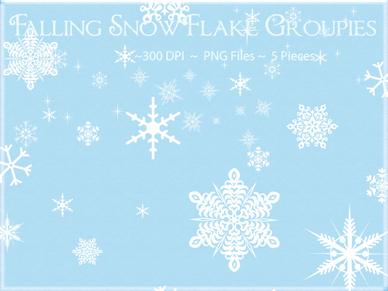 Snowflake Clipart, Falling Snowflake Clipart, Winter Clipart, Snow Clipart,  Snowflake