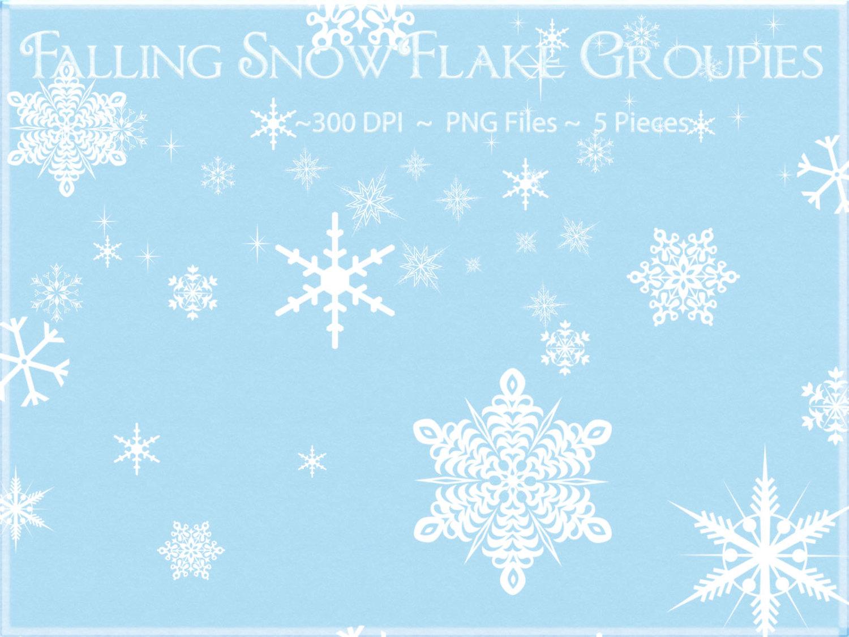 Snowflake Clipart, Falling Snowflake Cli-Snowflake Clipart, Falling Snowflake Clipart, Winter Clipart, Snow Clipart,  Snowflake-9