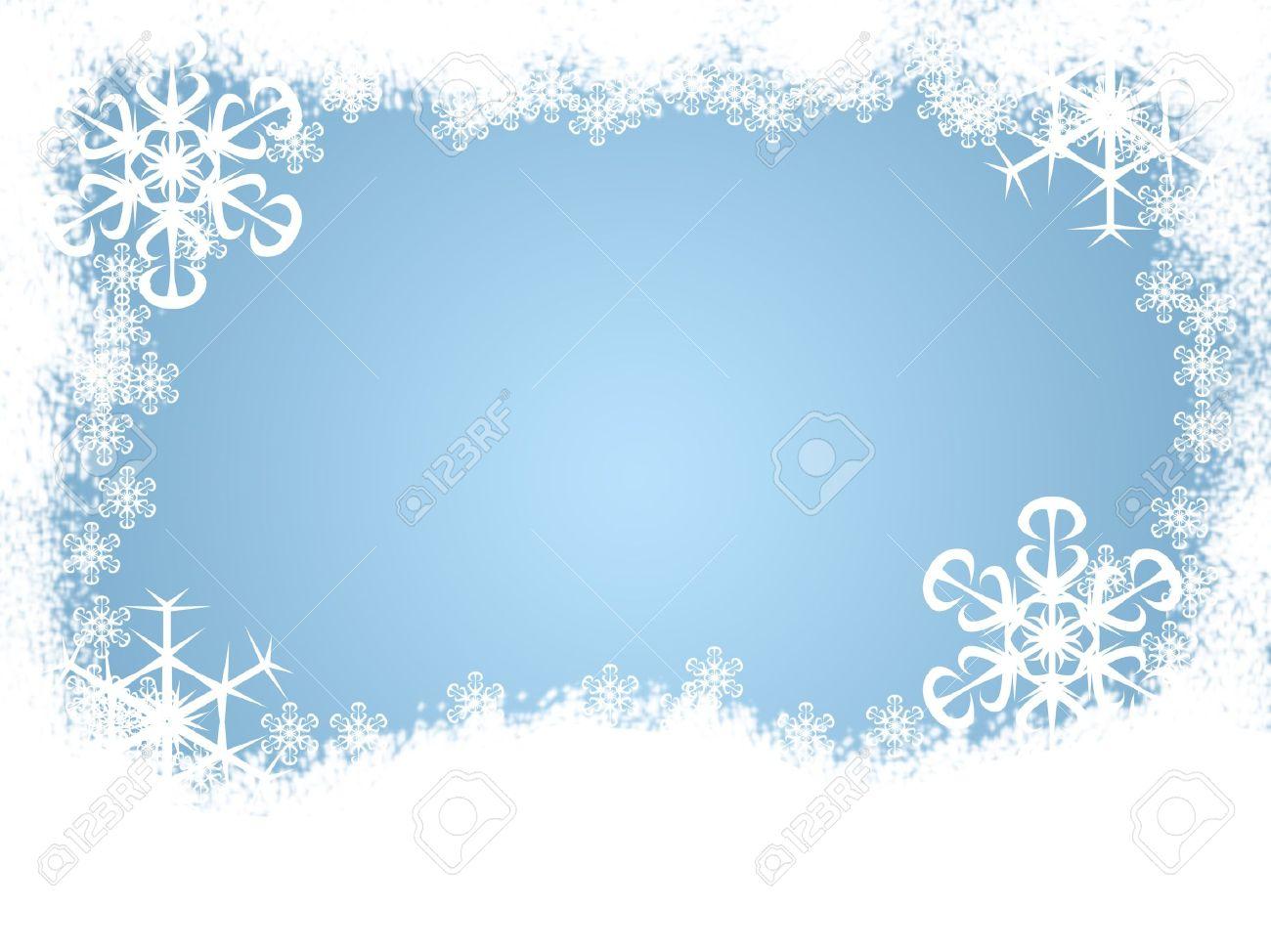 Winter Snow Borders Clipart #1