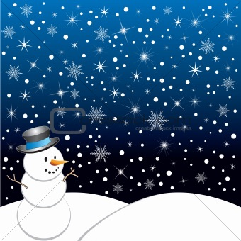 Winter · Snow Scene Clip Art .