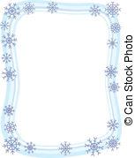 ... Winter Snowflake Border - A wintery blue border with... Winter Snowflake Border Clip Artby ...