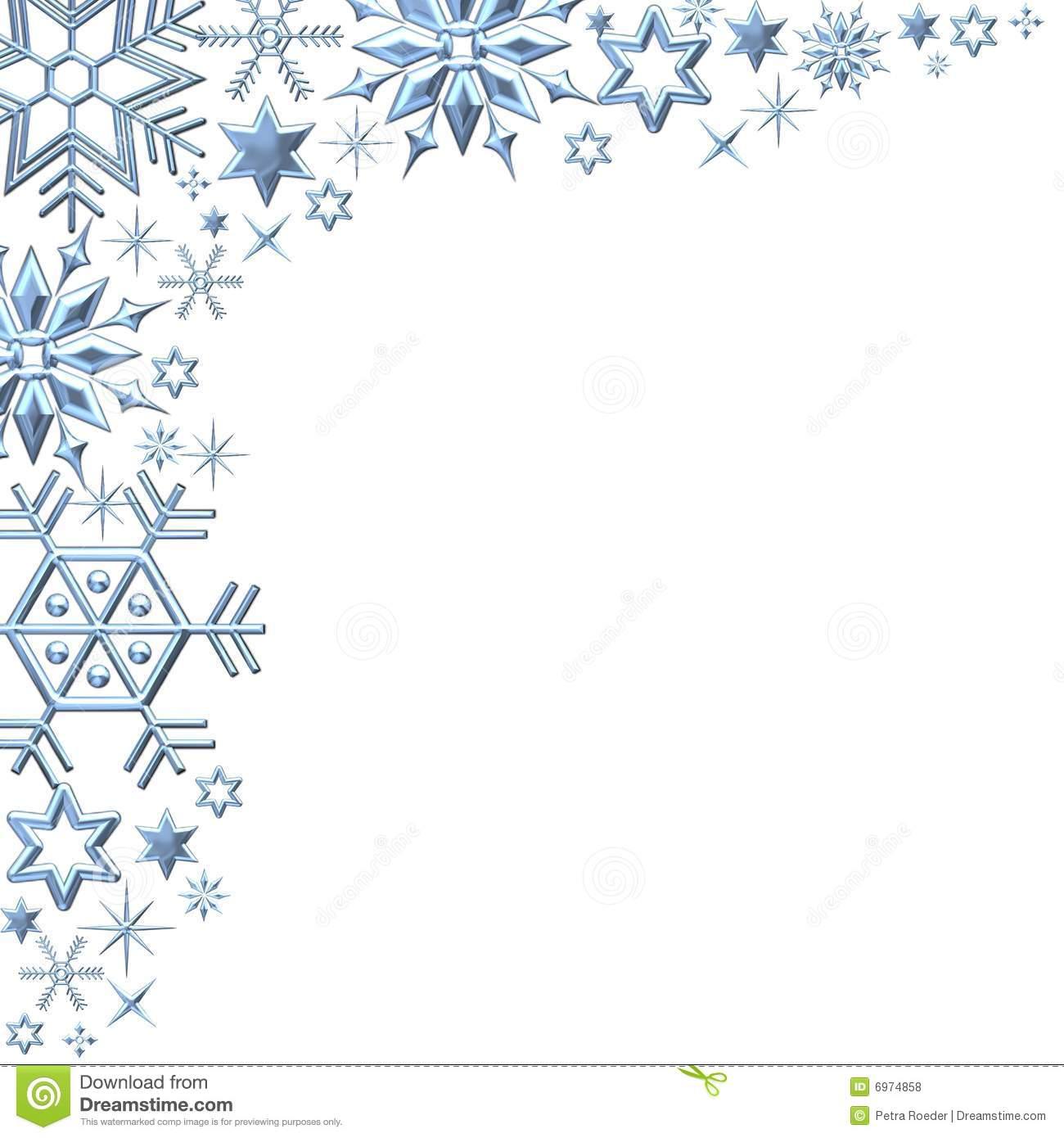 Winter Snowflakes Clip Art .. - Snowflake Clipart Border
