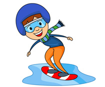 Winter Sports Boy Snowboarding Clipart S-Winter Sports Boy Snowboarding Clipart Size: 115 Kb-18