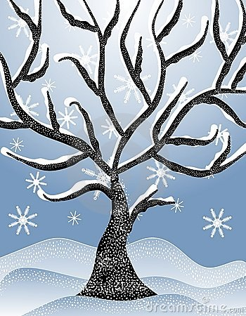 Winter Tree Clipart Free .