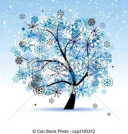 Winter Wallpaper Clipart #1. Christmas H-Winter Wallpaper Clipart #1. Christmas holiday. Winter tree .-17