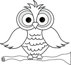 Wise owl clipart black and .