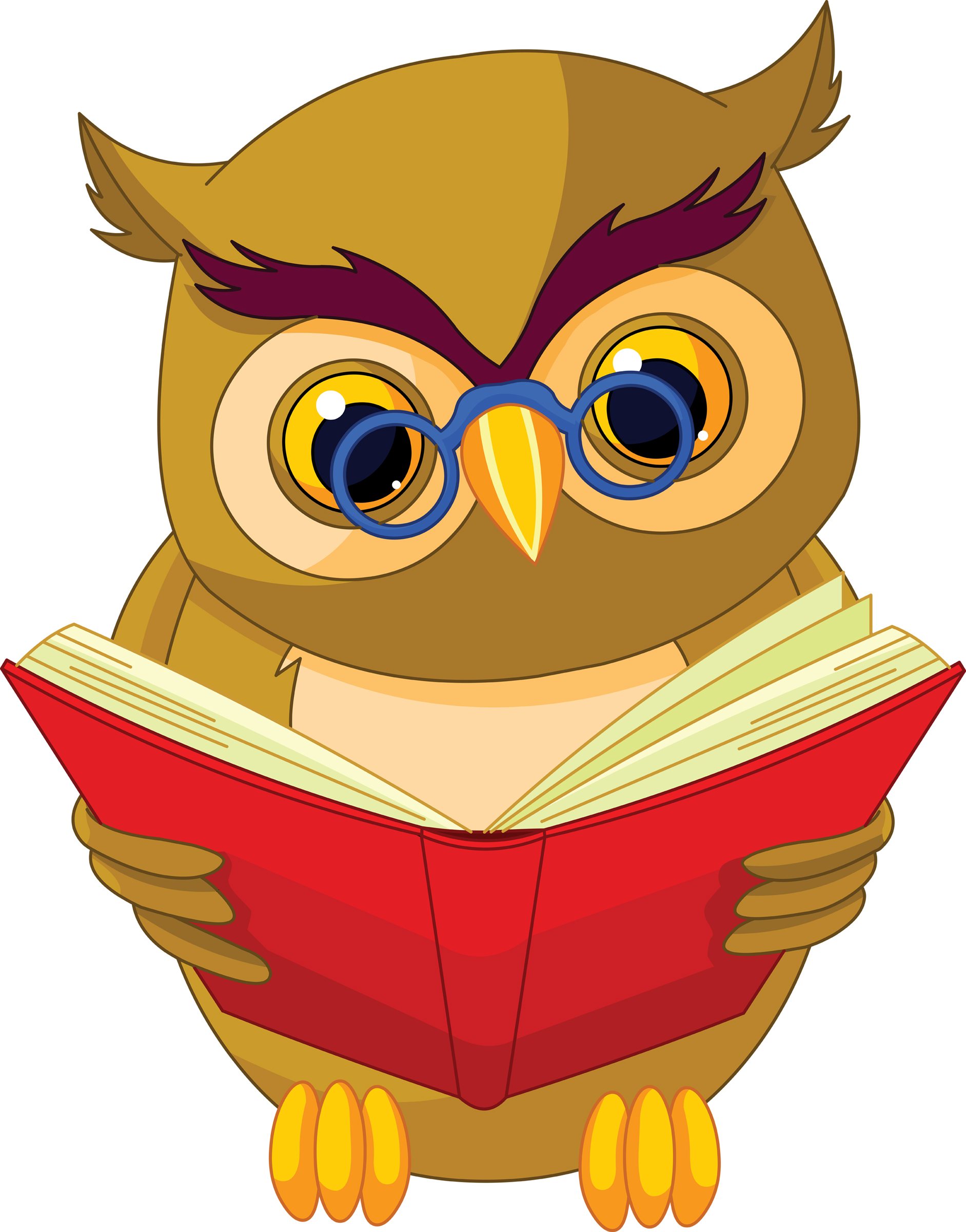 Wise Owl Reading Book Clipart-Wise Owl Reading Book Clipart-18